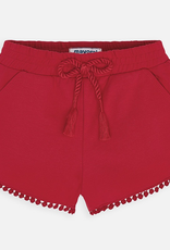 Mayoral Chenille Knit Shorts for Girl in Red