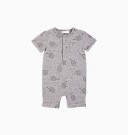 Heather Grey Racket Henley Romper