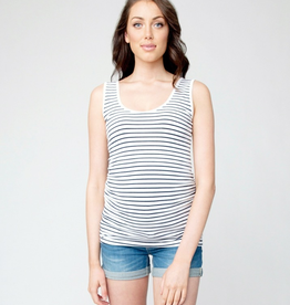 Ripe Maternity Navy and White Stripe Tube Tank