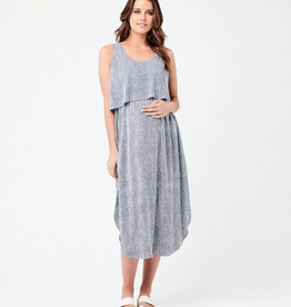 Ripe Maternity Indigo & White Stella Stripe Nursing Dress