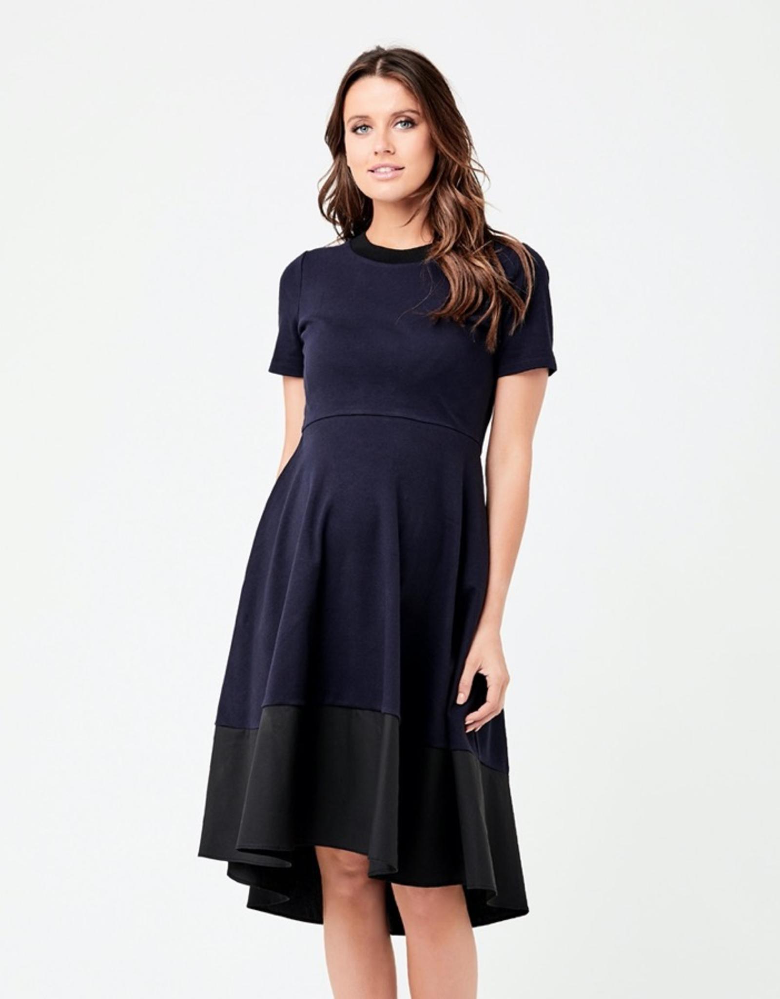 Ripe Maternity Navy & Black Frankie Hi Low Dress