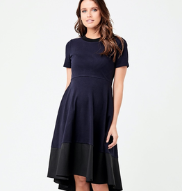 Ripe Maternity Navy & Black Frankie Hi Low Dress