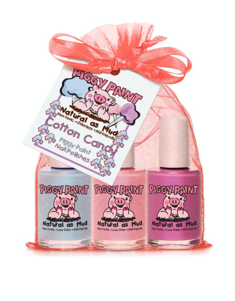 Piggy Paint Cotton Candy, Nail Polish Gift Set, 3 Pack