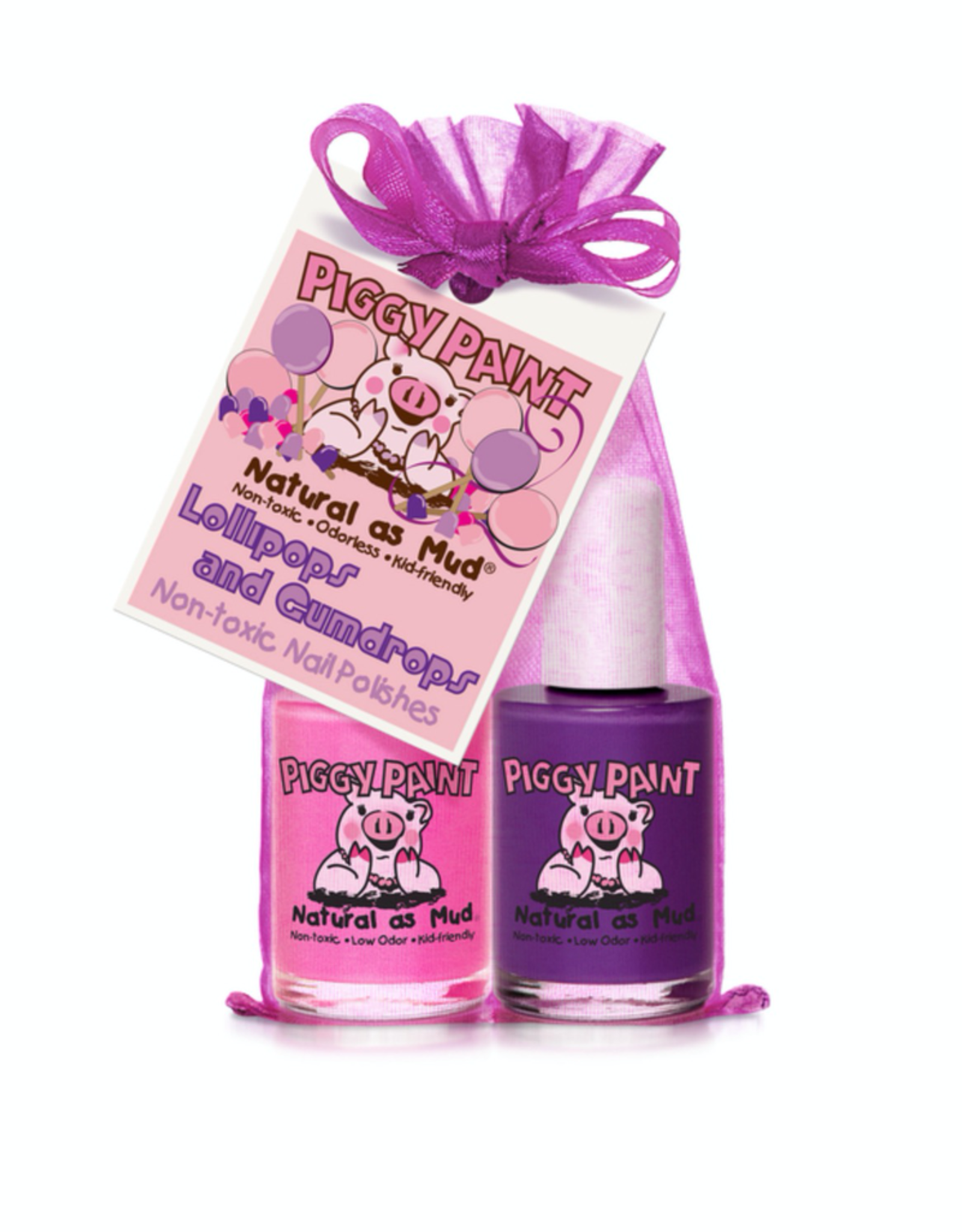 Piggy Paint Lollipops & Gumdrop Nail Polish 2 pack, Jazz it Up/Girls Rule, .24oz