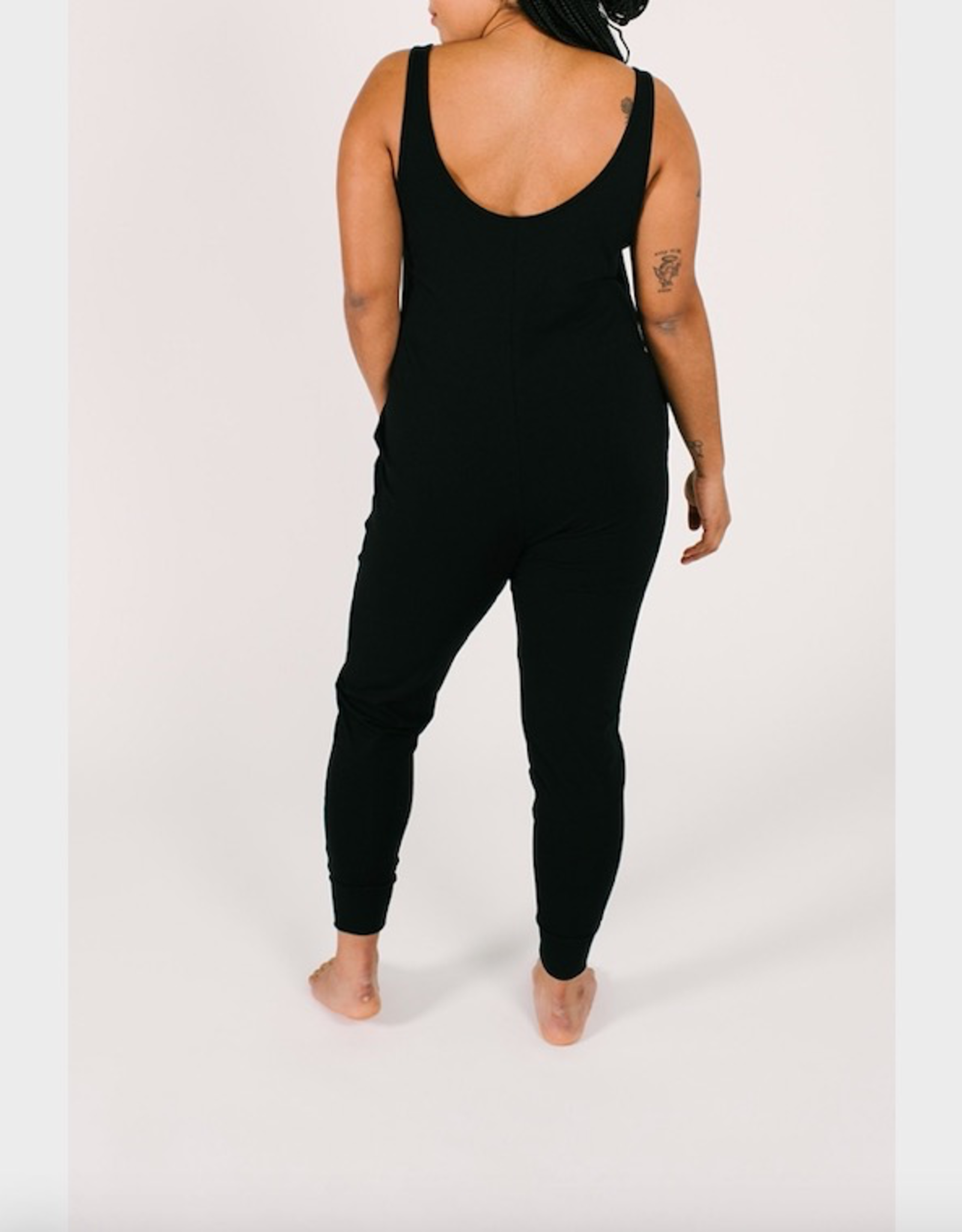 Smash + Tess The New Tuesday Romper in Midnight Black