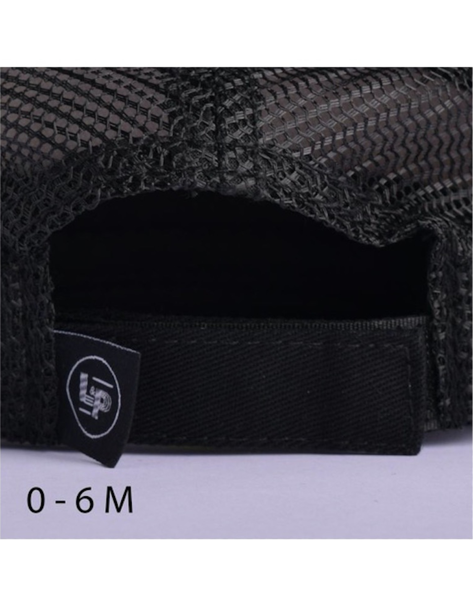L&P Apparel All Black Orleans Snapback Trucker Cap