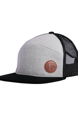 L&P Apparel Orleans Snapback Trucker Cap in Black and Grey