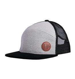 L&P Apparel Black & Grey Orleans Snapback Trucker Cap