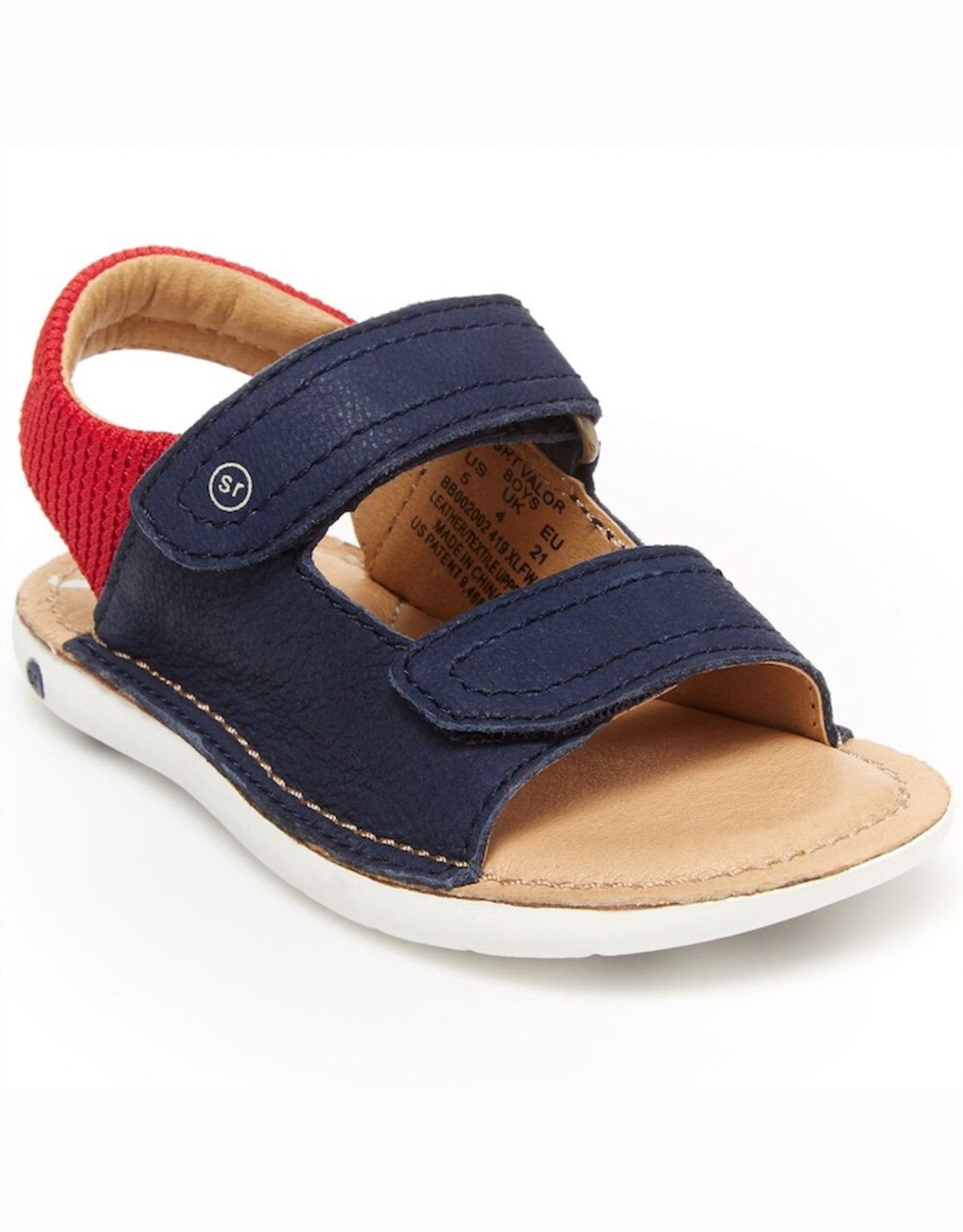 Striderite SRTech Valor Sandal in Navy & Red