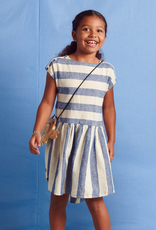 Tea Collection Button Shoulder Dress in Astral for Girl