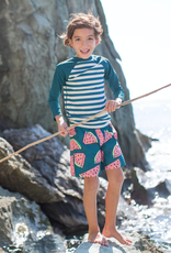 Tea Collection Mid-Length Swim Trunk in Watermelons for Boy