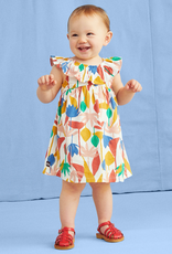 Tea Collection Egyptian Floral Baby Ruffle Neck Dress