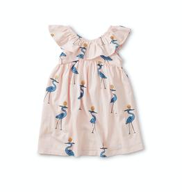 Tea Collection Sparkle Ibis Baby Ruffle Neck Dress