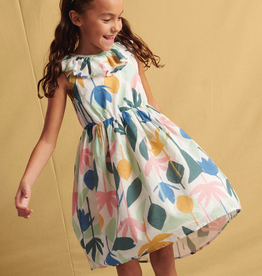 Tea Collection Egyptian Floral Ruffle Hi-Lo Dress