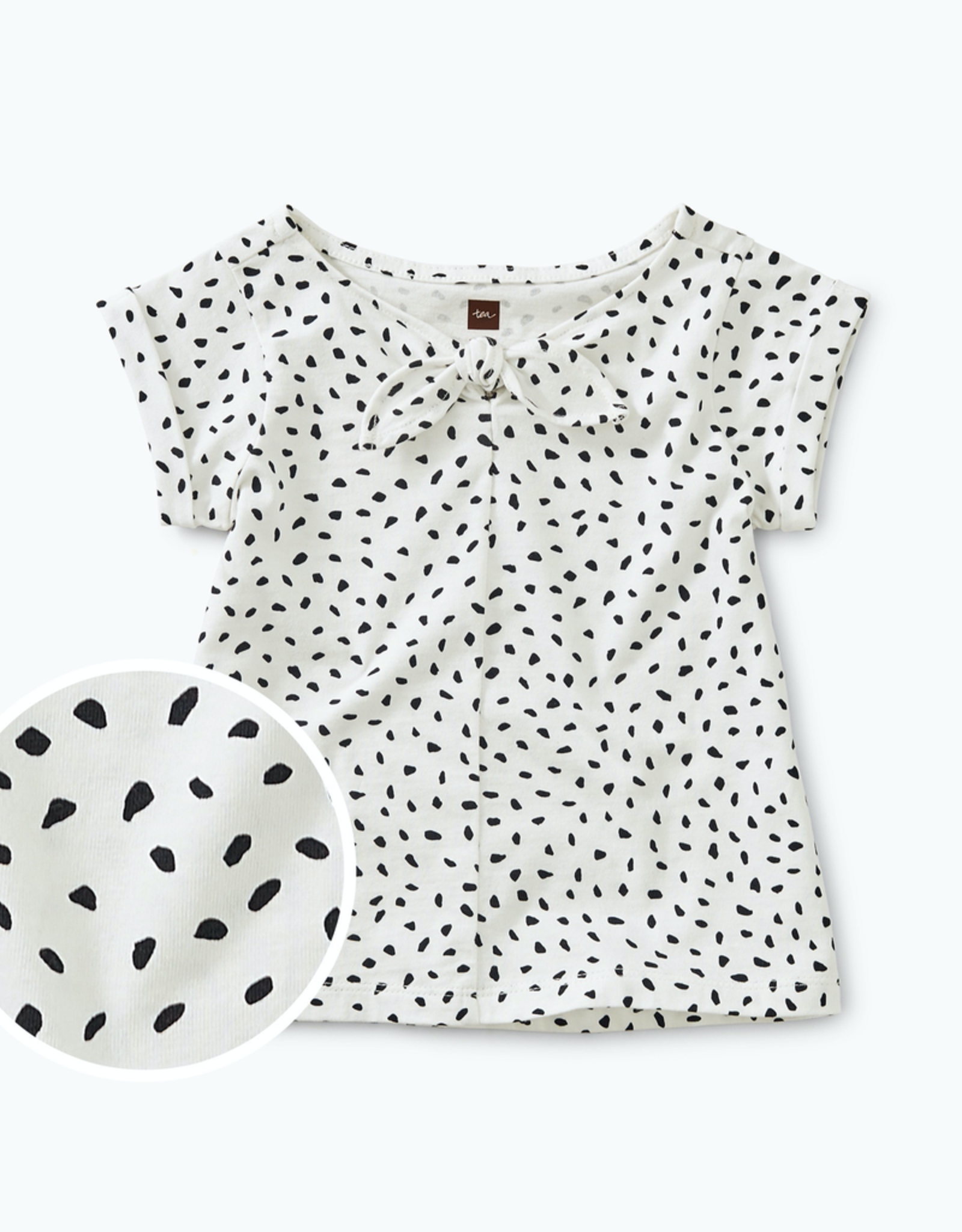 Tea Collection Printed Knotted Baby Top