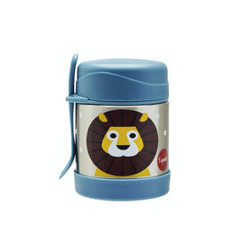 3 Sprouts Stainless Steel Food Jar, Lion/Blue