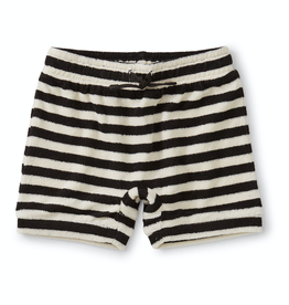 Tea Collection Terry Cloth Shorts for Baby in Jet Black