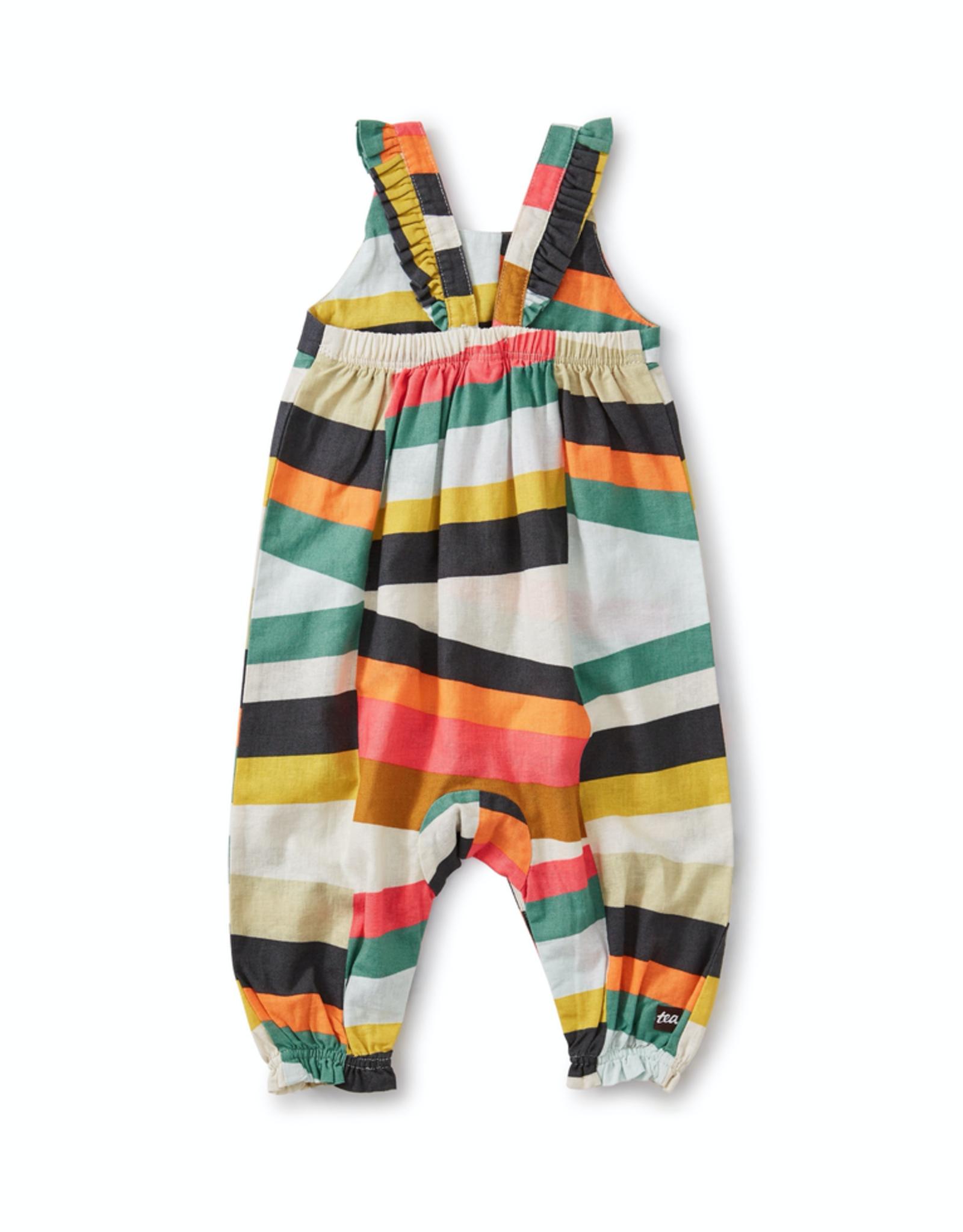 Tea Collection Tie Shoulder Romper for Baby Girl in Oasis Fruit