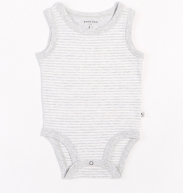 Grey Striped Tank Onesie with Organic Cotton