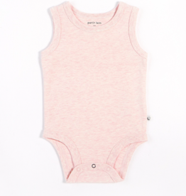 Heather Pink Tank Onesie with Organic Cotton