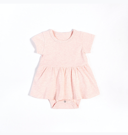 Heather Pink Peplum Onesie with Organic Cotton