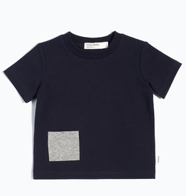 Navy T-Shirt with Contrasting Patch Pocket
