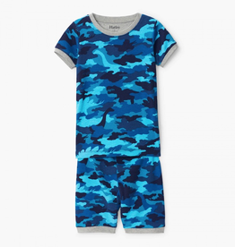 Hatley Dino Camo Organic Cotton Short Pajama Set