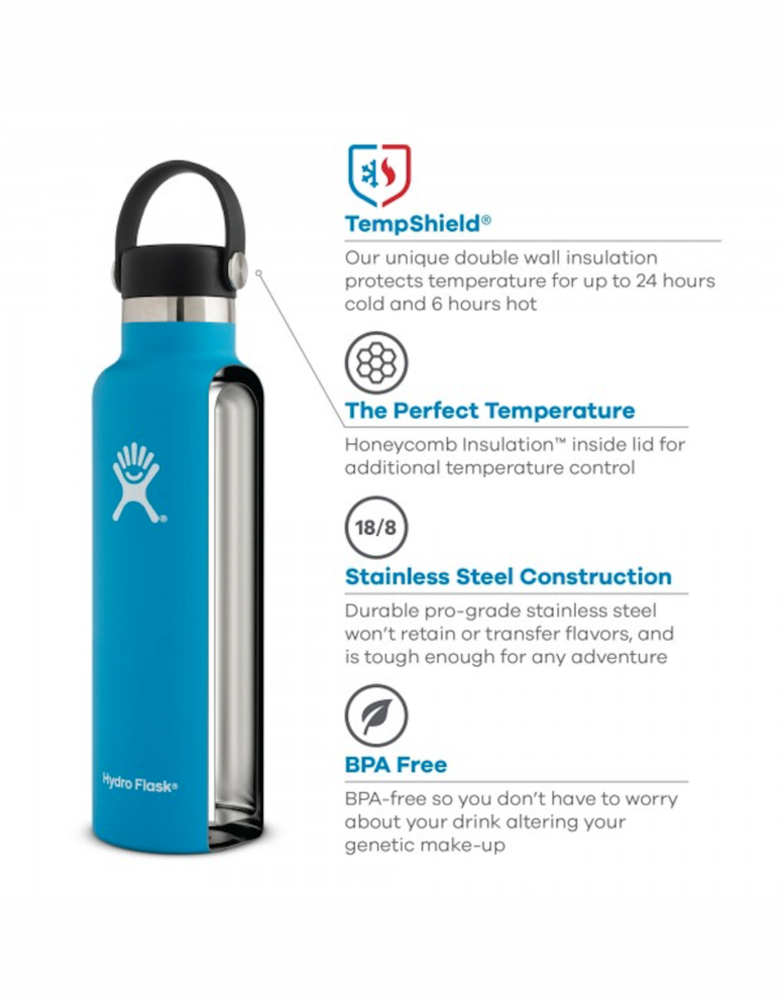 Hydro Flask 21 oz Standard Mouth in Cobalt