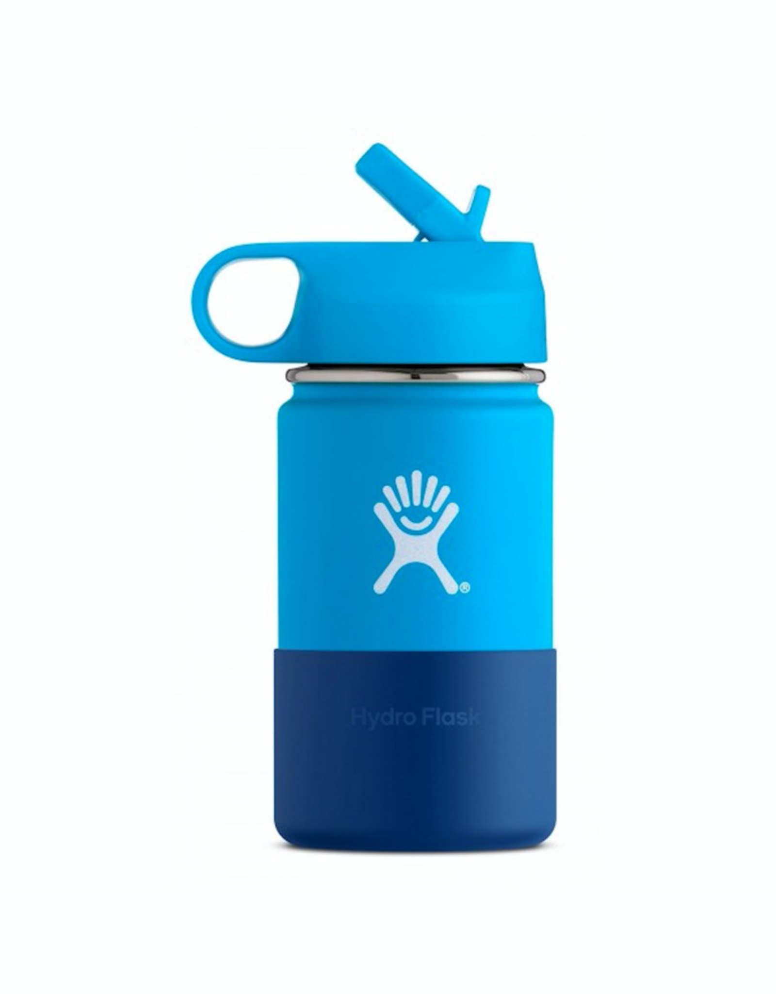 Hydro Flask 12 oz Kids Wide Mouth Straw Lid Bottle in Pacific