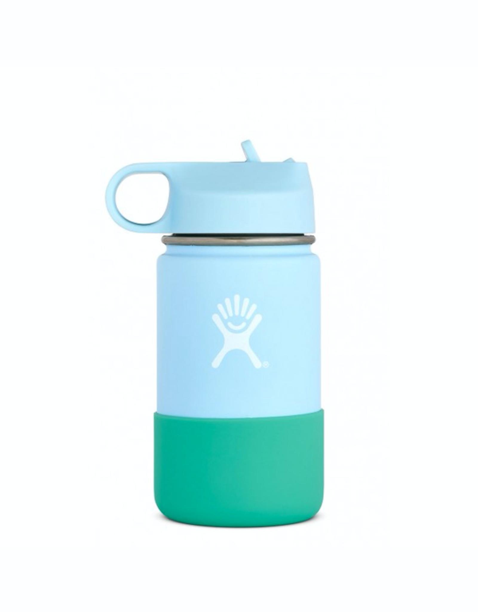 Hydro Flask 12 oz Kids Wide Mouth Straw Lid Bottle in Frost