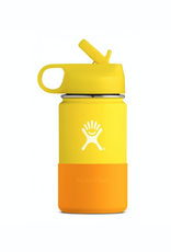 Hydro Flask 12 oz Kids Wide Mouth Straw Lid Bottle in Lemon