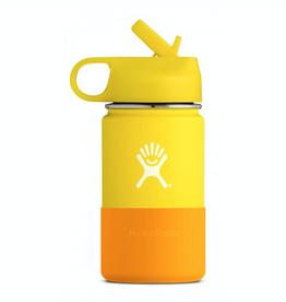 Hydro Flask 12 oz Kids Wide Mouth Straw Lid Bottle in Lemon