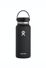 Hydro Flask 32 oz Wide Mouth Flex Cap Bottle in Black