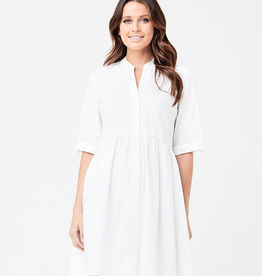 Ripe Maternity Paige Poplin Dress in White