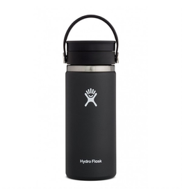 Hydro Flask 16 oz Wide Mouth  Flex Sip Lid Bottle in Black