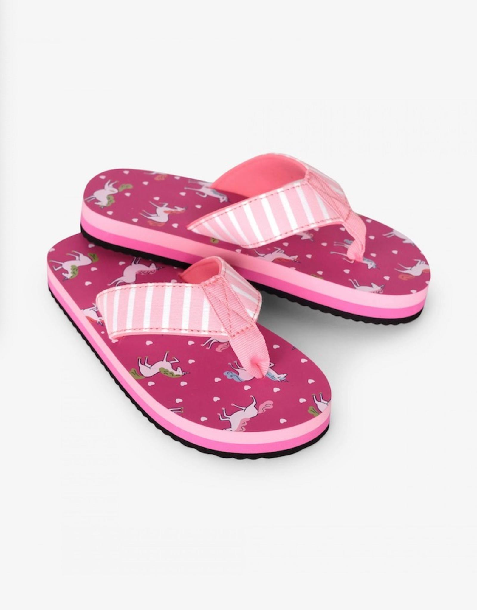 Hatley Prancing Unicorns Flip Flops
