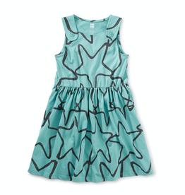 Tea Collection Patina Starfish Button Shoulder Dress