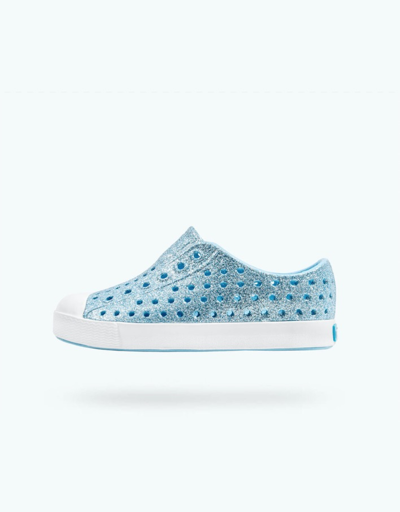 Native Shoes Jefferson Bling Child in Light Sky Blue