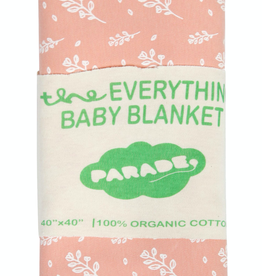 Parage Organics Everthing Baby Blanket in White Floral