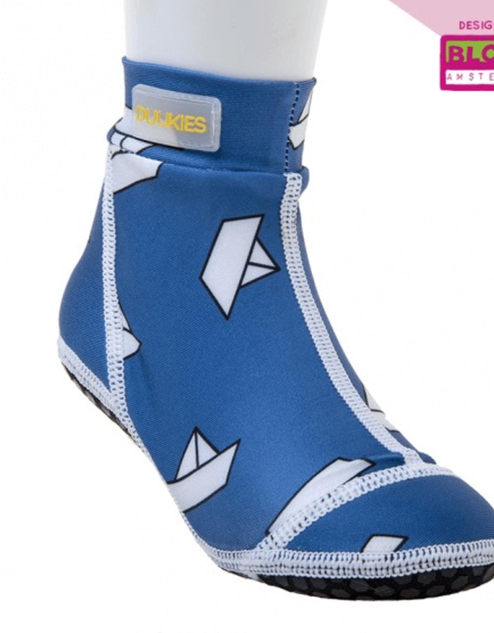 Duukies Beach Socks in Blue Boat