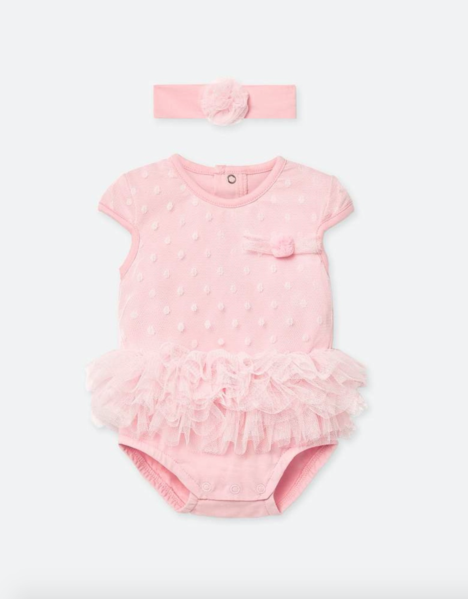 Mayoral Ruffled Bodysuit & Headband for Baby Girl