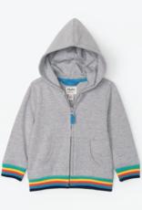 Hatley Retro Stripe Grey Baby Hoodie