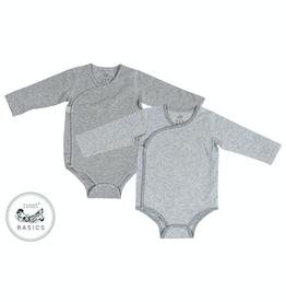Nest Designs Basic Organic Cotton Long Sleeve Kimono Onesie (2Pack)