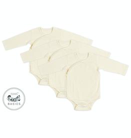Nest Designs Basic Organic Cotton Long Sleeve Kimono Onesie (3Pack)