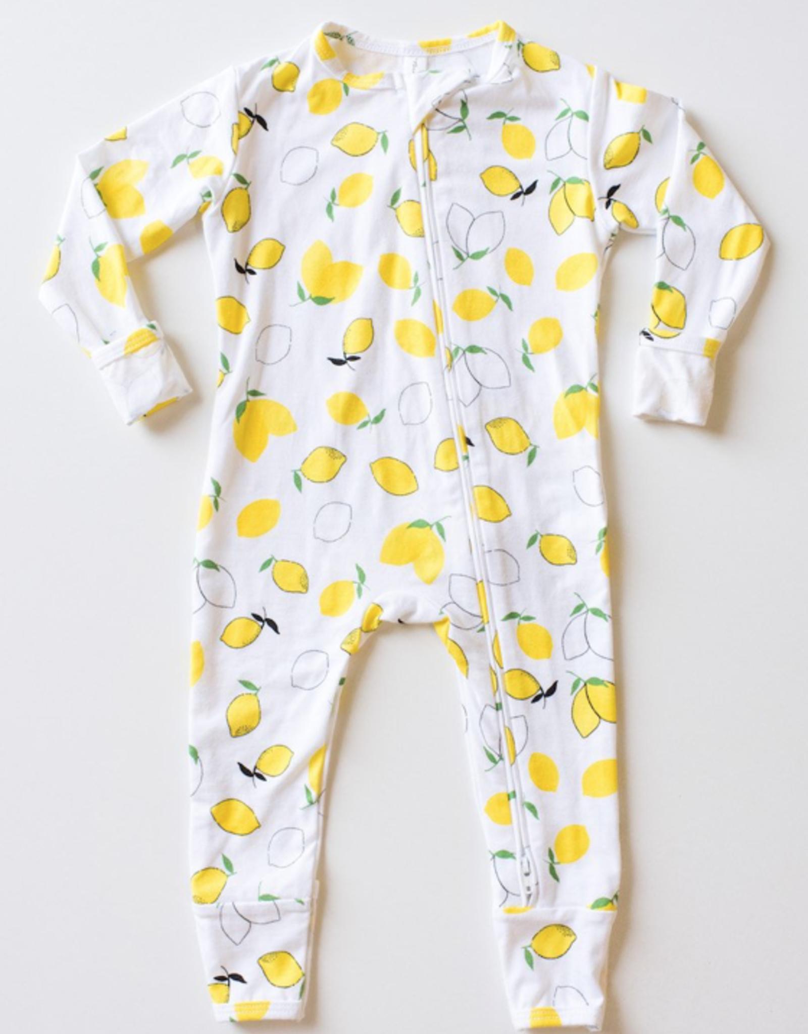 Bambie and Birdie Zipper Sleeper - Lemons
