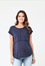 Ripe Maternity Richie Nursing Tee in Indigo