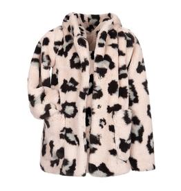Appaman Cleo Faux Fur Leopard Print Coat