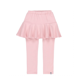 Deux Par Deux French Terry Skirted Legging in Light Pink