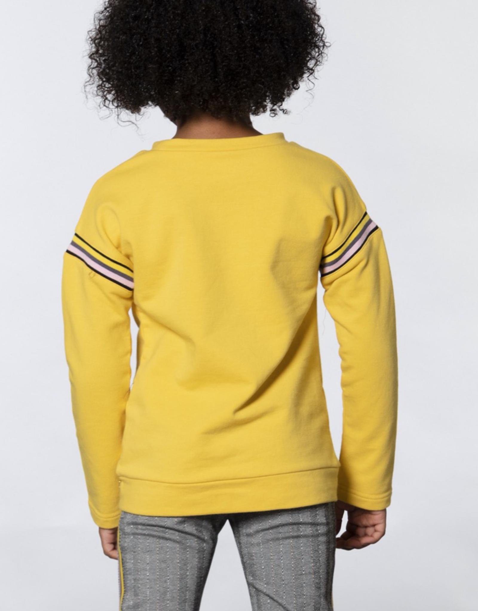 Deux Par Deux Yellow Front Knotted Fleece Top