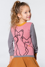 Deux Par Deux Knitted Sweater With Cats